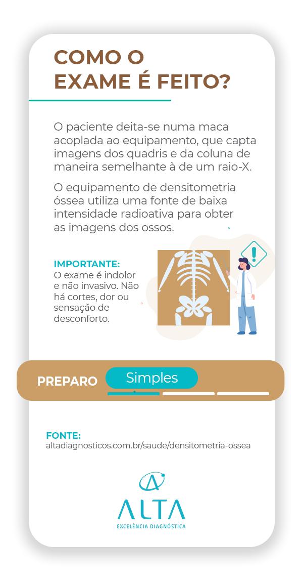 Como é feito o exame densitometria óssea -  Alta diagnósticos