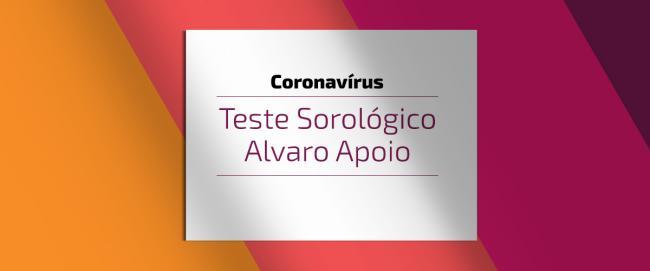 Coronavirus: exame Sorologia Covid-19 Alvaro Apoio