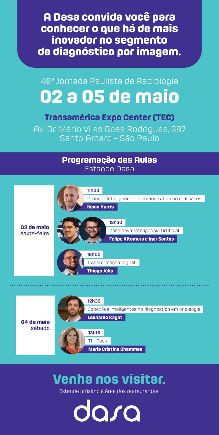 Dasa na 49ª Jornada Paulista de Radiologia (JPR)