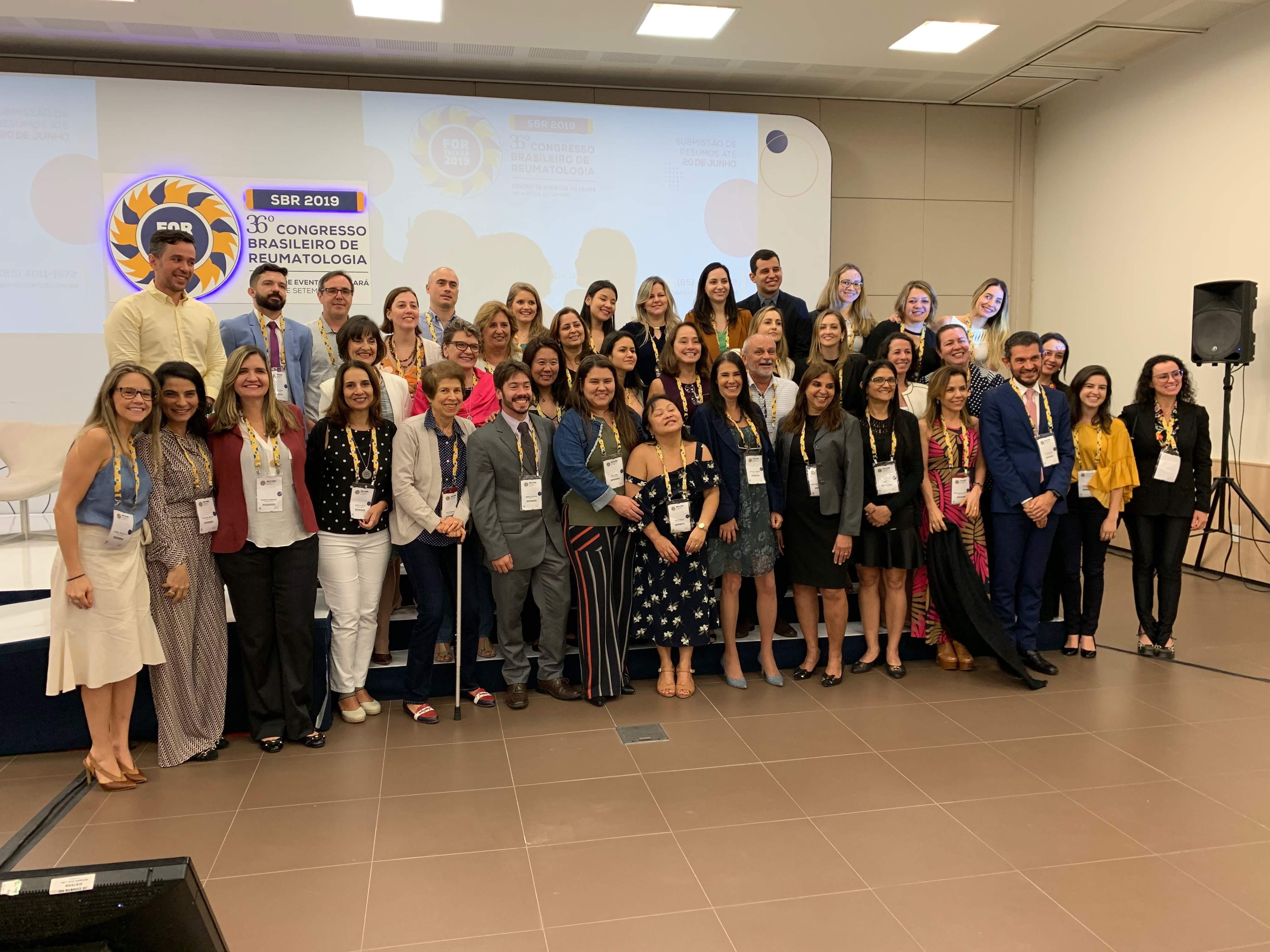 Grupo de LESJ 2020-2030, que terá apoio Dasa, no Congresso Brasileiro de Reumatologia, Fortaleza (CE), em setembro de 2019