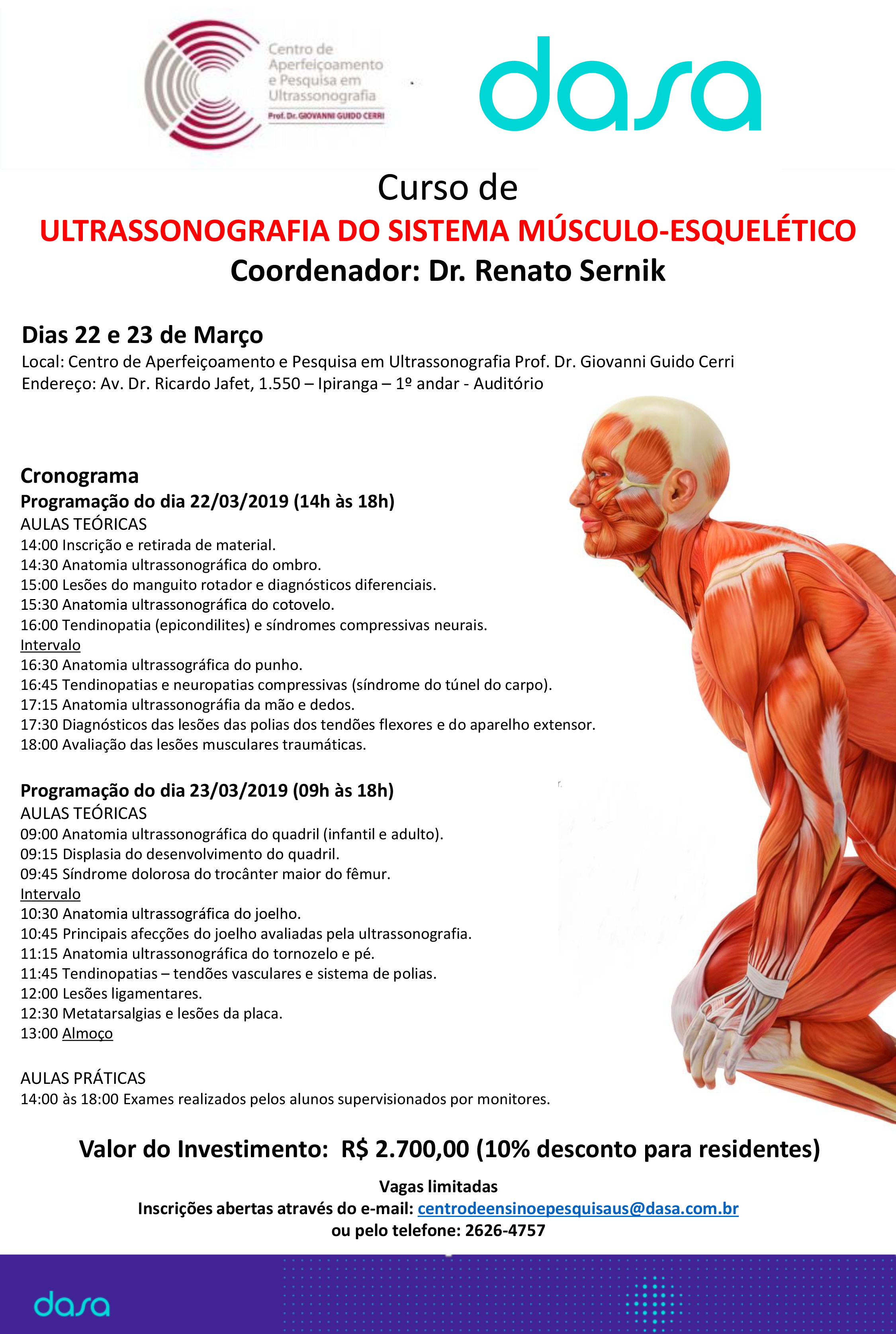 Curso: Ultrasonografia do Sistema Músculo-esquelético
