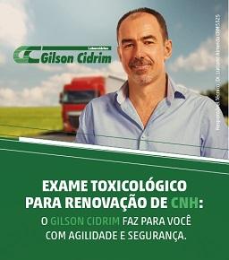 Exame Toxicológico Gilson Cidrim