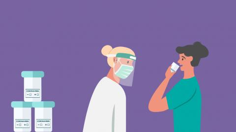 Teste de COVID pela saliva: Exame simples e indolor