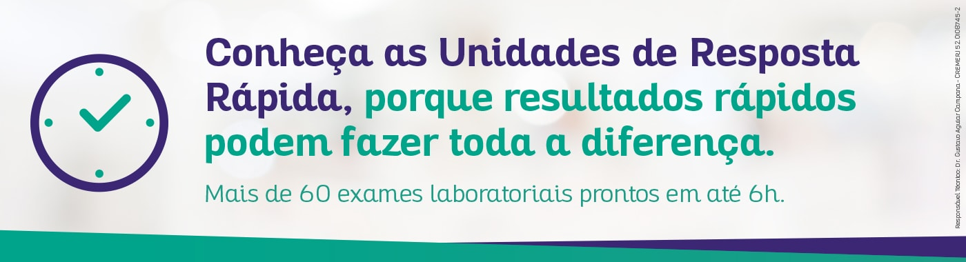Unidades de Resposta Rápida Sergio Franco, os resultados dos seus pacientes em até 6 horas