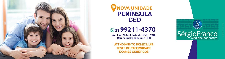 Na nova unidade Península CEO, vocês encontram atendimento domiciliar, teste de paternidade e testes genéticos.