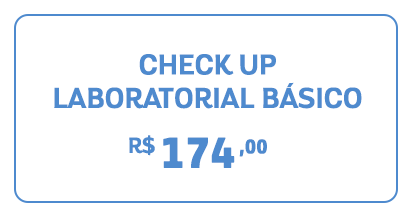 chekup  Laboratorial básico por 174 reais